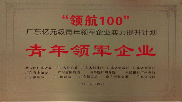 """广东""""领航100""""青年领军企业"""